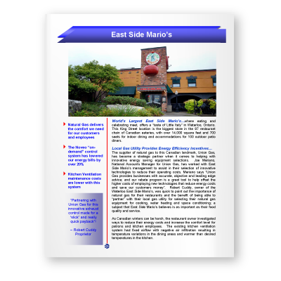 Case Study: East Side Mario's
